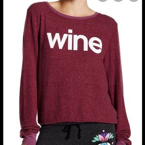 Wildfox wine burgundy sweatshirt Crew neck size L